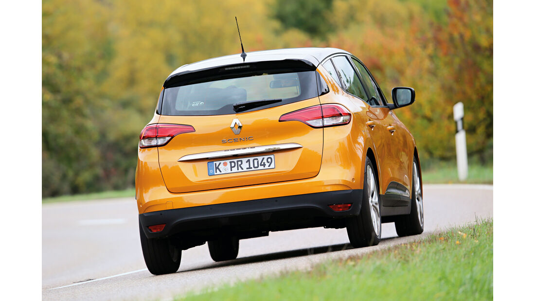 Renault Scénic dCi 130, Heckansicht