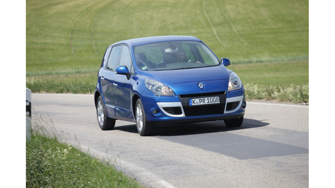 Renault Scenic dCi 110 FAP EDC, Front, Frontansicht