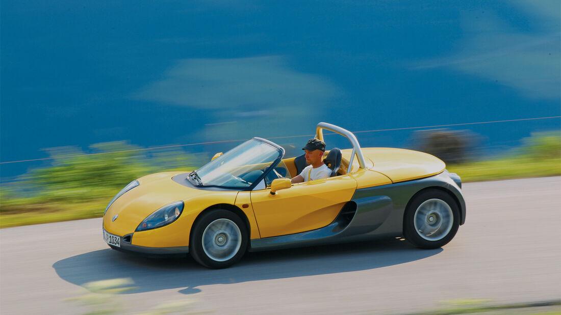 Renault Sport Spider, Seitenansicht