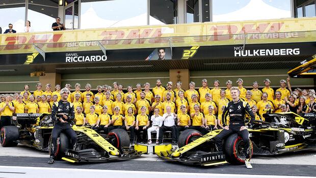 Renault - Teamfoto - GP Abu Dhabi 2019 - Rennen
