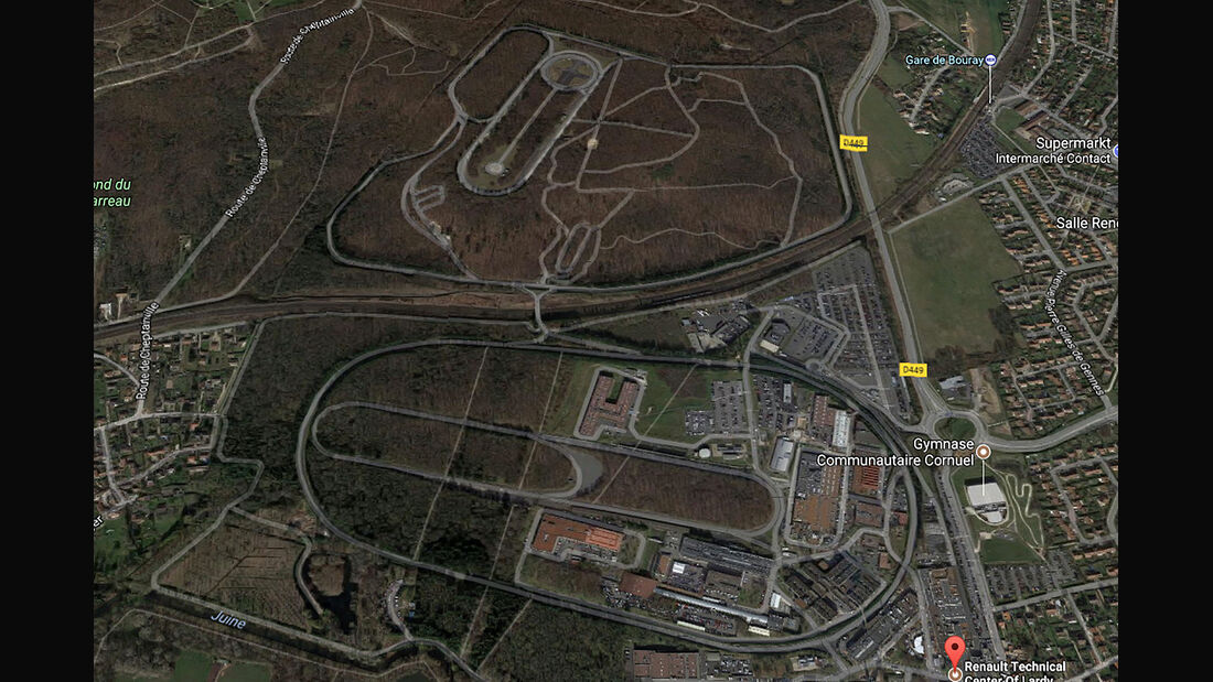 Renault Teststrecke Lardy