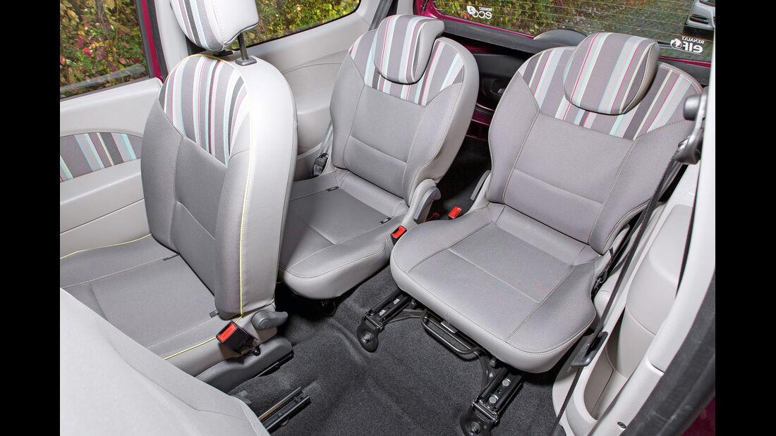 Renault Twingo 1.2 LEV 16V 75 Liberty, Rücksitz
