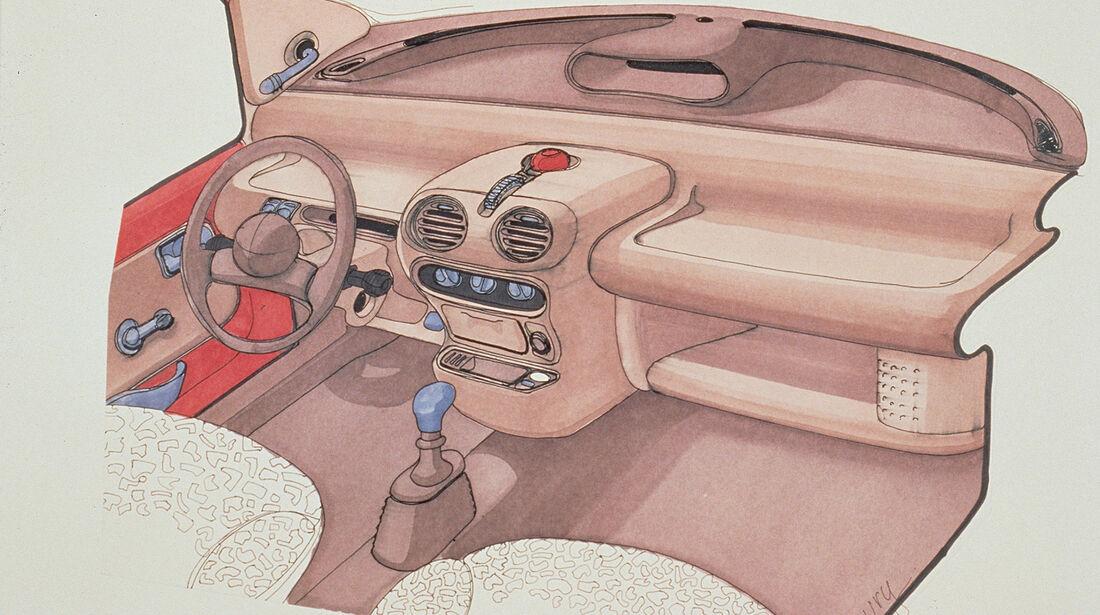 Renault Twingo, 1. Generation, Konzept