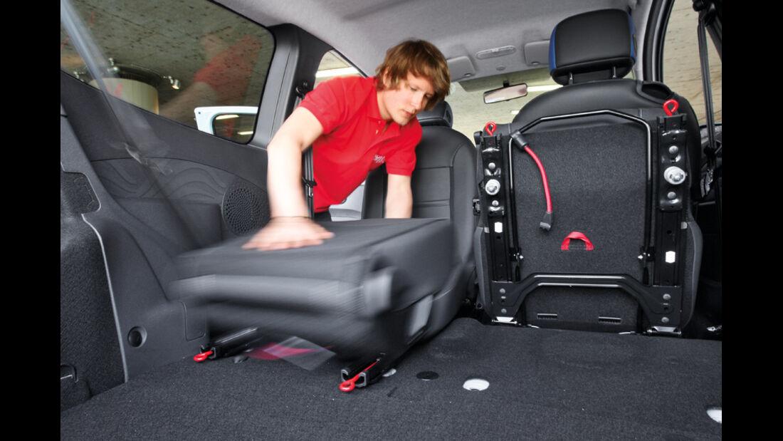 Renault Twingo, Rücksitze