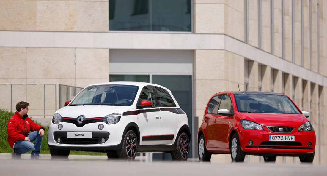 Renault Twingo, Seat Mii, Frontansicht