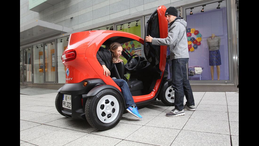 Renault Twizy, Aussteigen