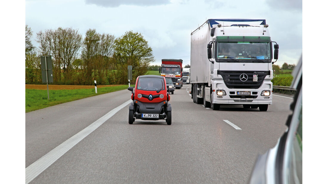 Renault Twizy, Autobahn, Laster