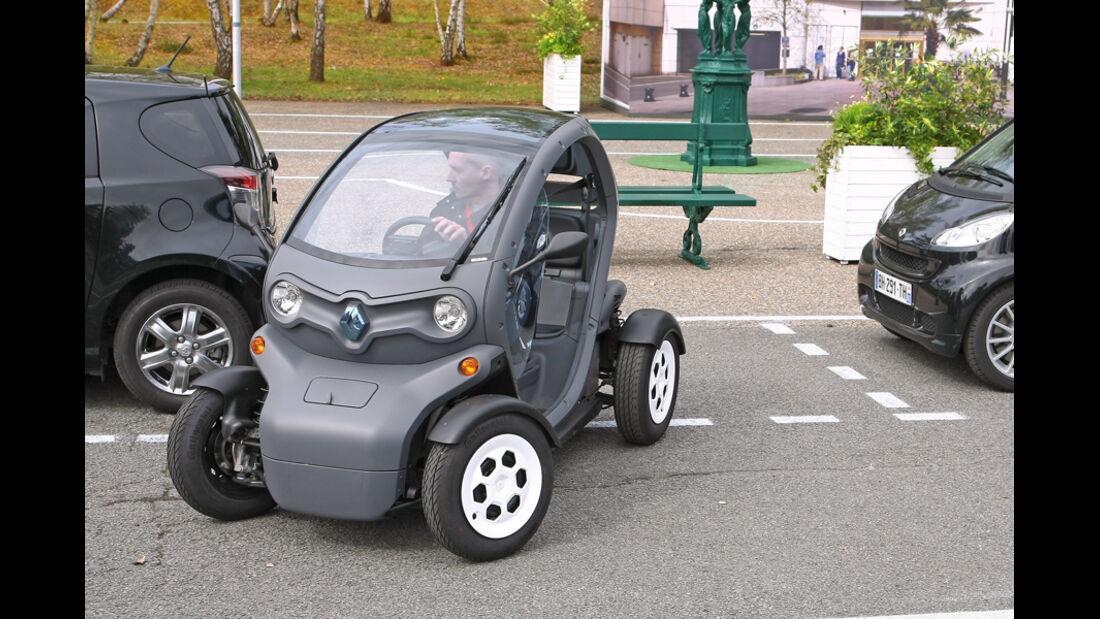 Renault Twizy, Einparken