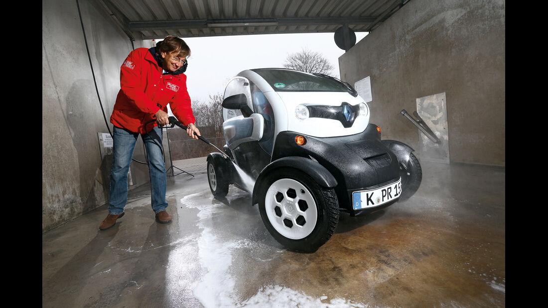 Renault Twizy, Frontansicht, Waschen