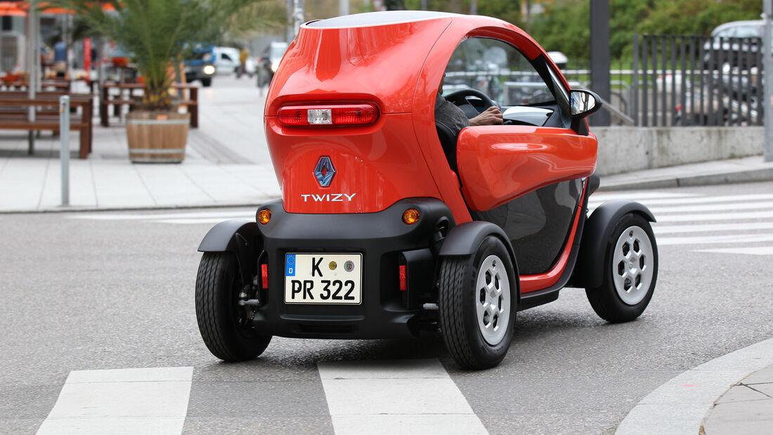 Renault Twizy, Heck, Kurvenfahrt