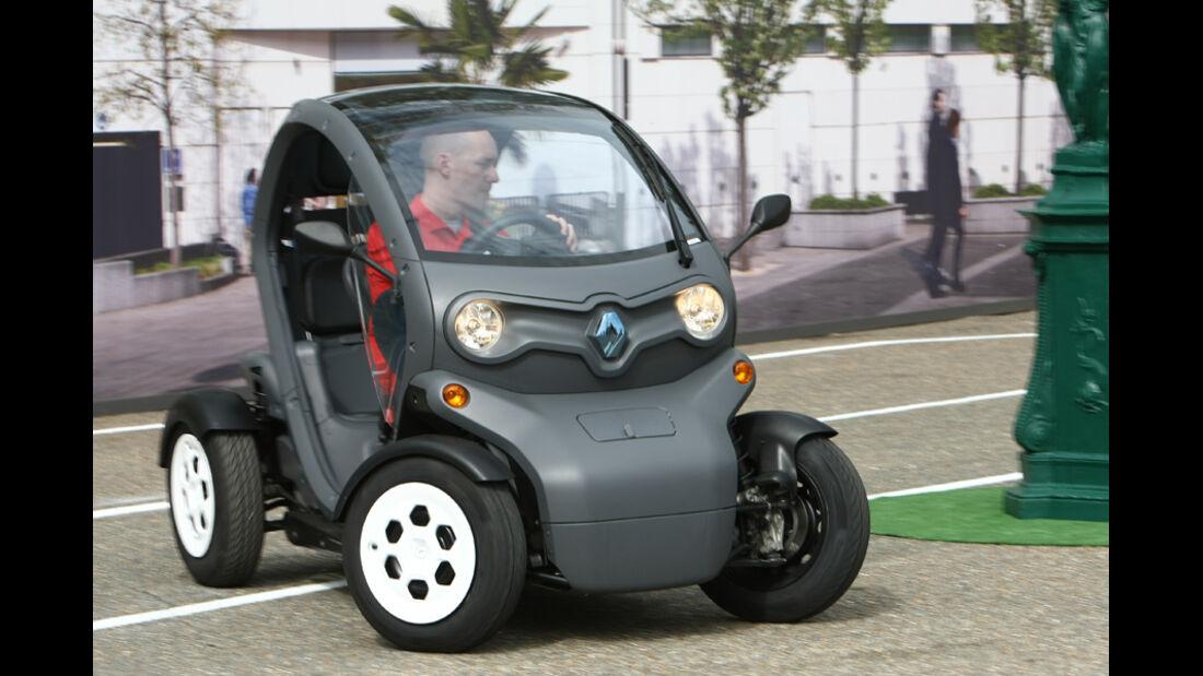 Renault Twizy, Kurvenfahrt
