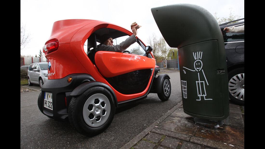Renault Twizy, Parken, Parklücke