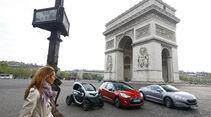 Renault Twizy, Peugeot RCZ, Citroen DS3, Paris