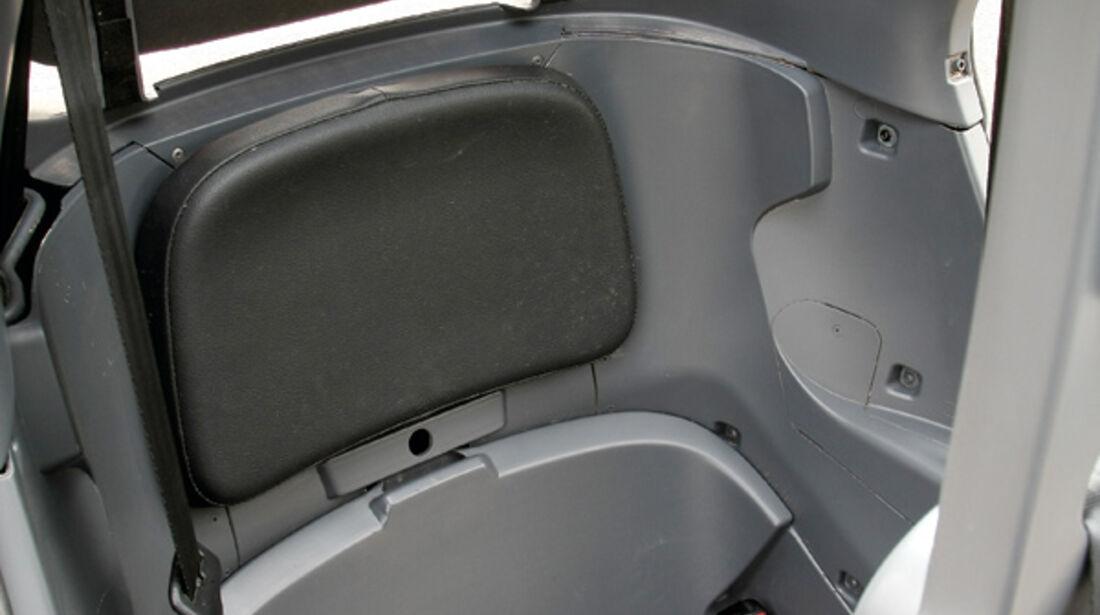 Renault Twizy, Rücksitz