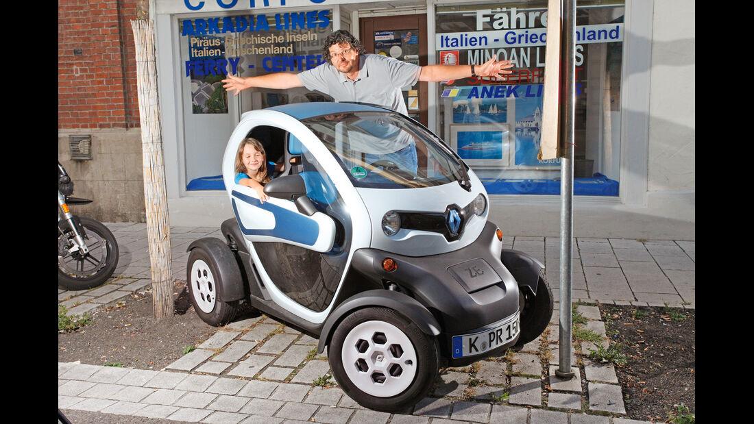 Renault Twizy, Seitenansicht, Kinder, Größe