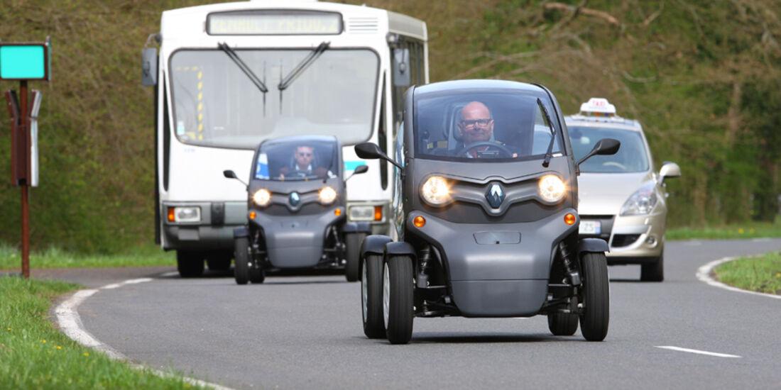 Renault Twizy, im Straßenverkehr