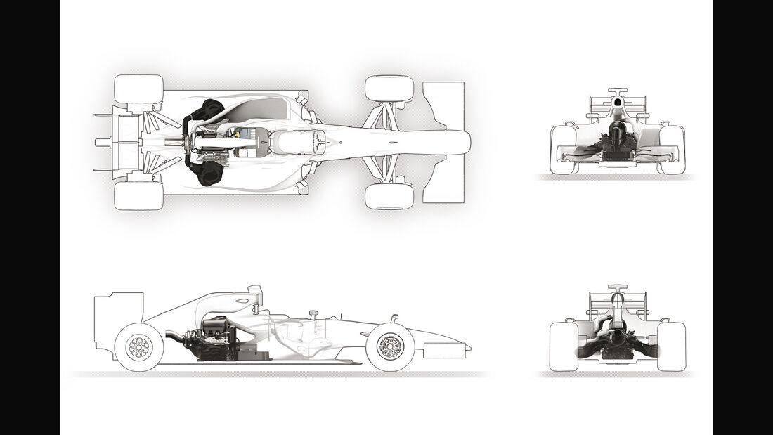 Renault V6 F1 Motor 2014