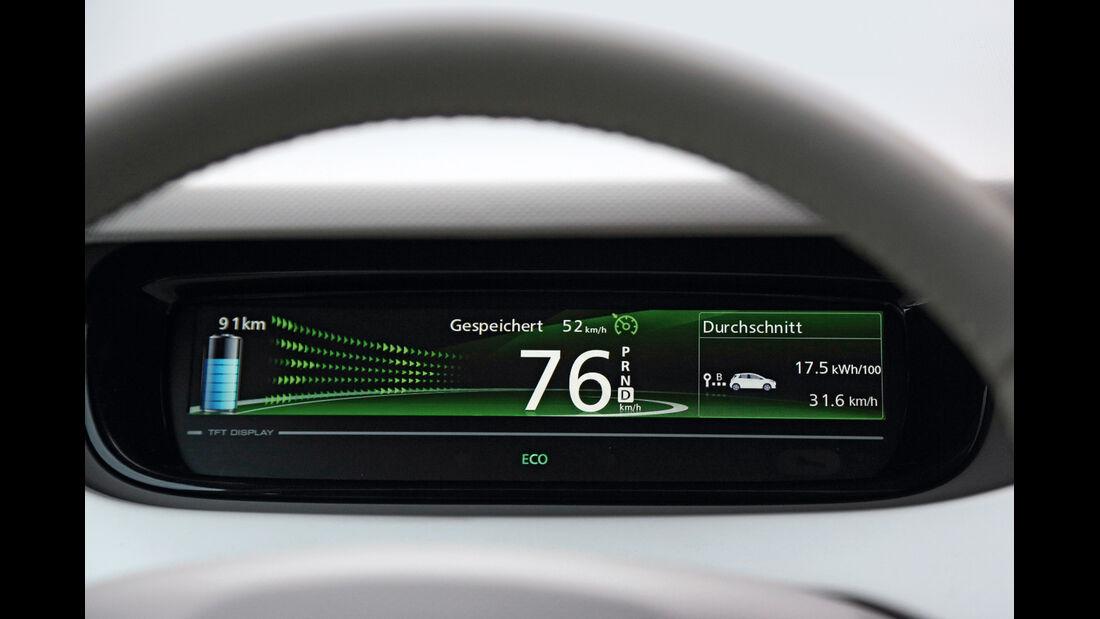 Renault Zoe, Anzeige, Monitor