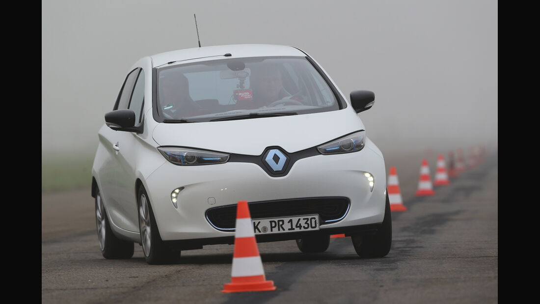 Renault Zoe, Frontansicht, Slalom
