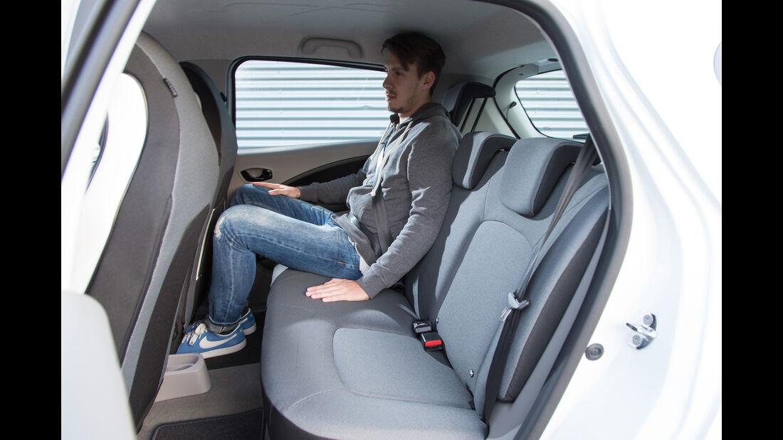Renault Zoe Intens, Fondsitze