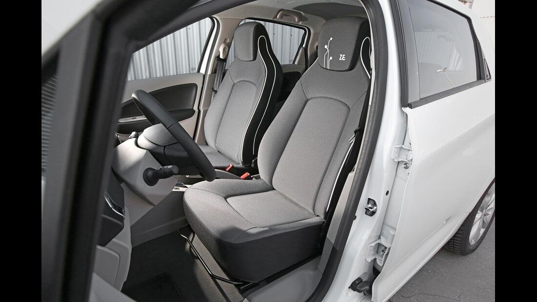 Renault Zoe Intense, Fahrersitz
