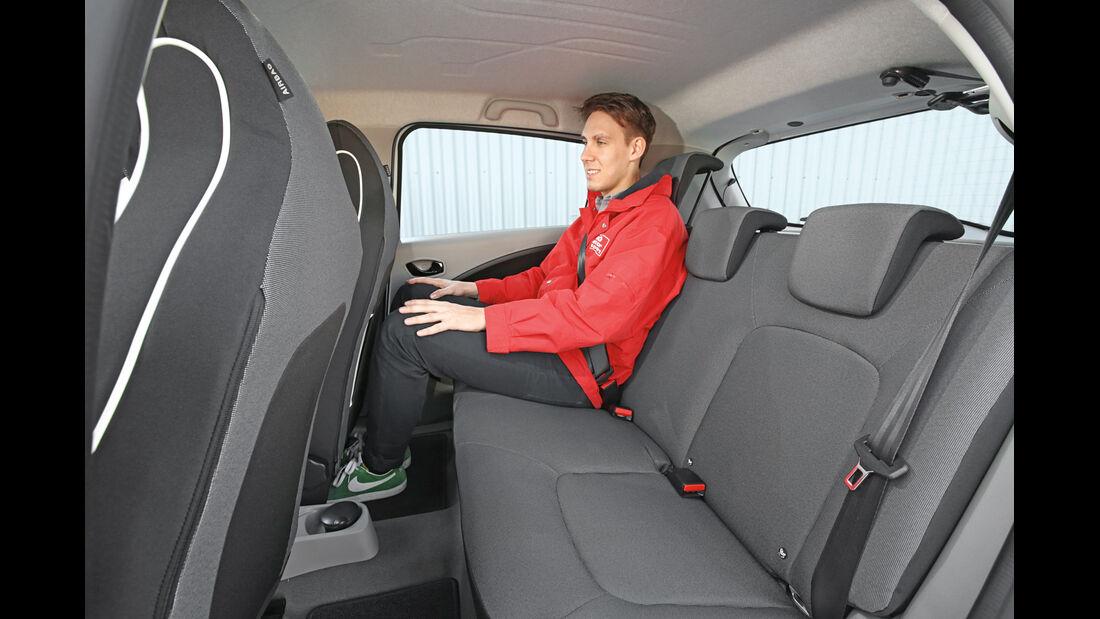Renault Zoe Intense, Fondsitz