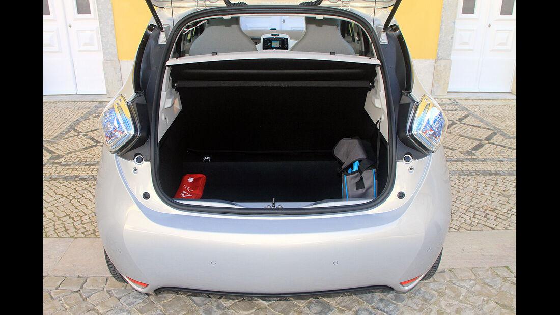 Renault Zoe, Kofferraum