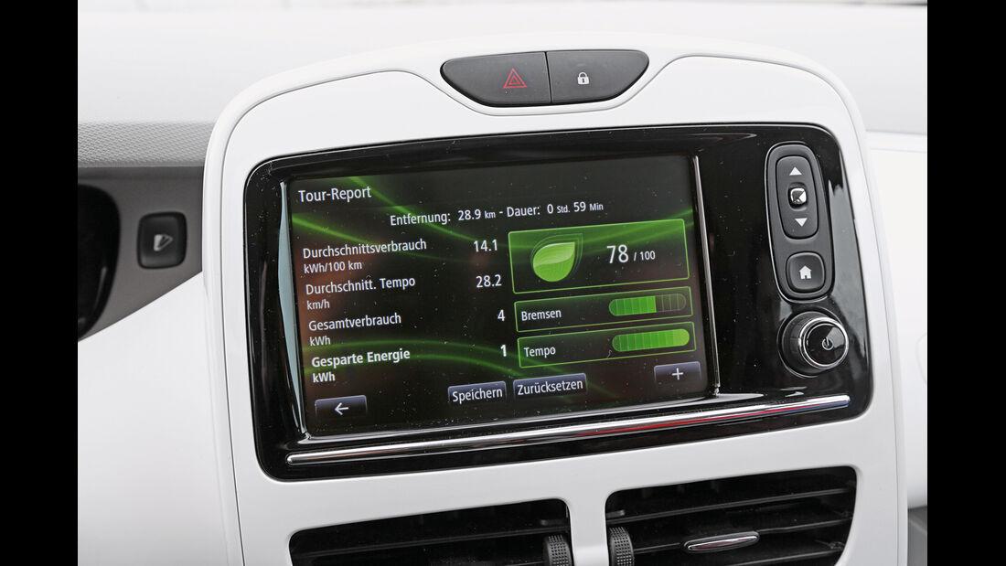 Renault Zoe, Monitor, Bordcomputer
