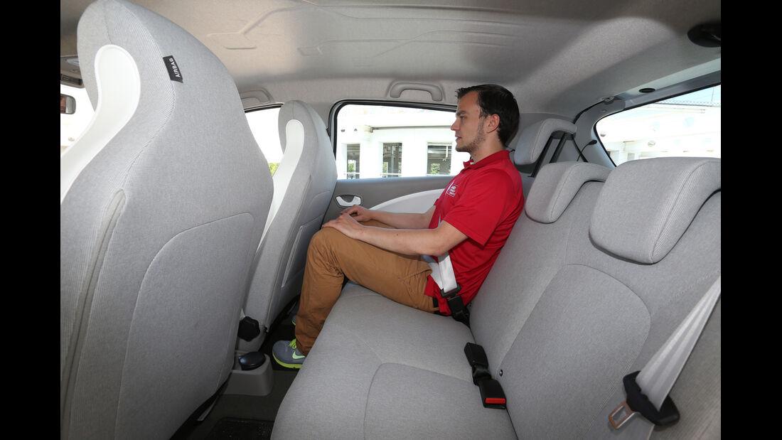 Renault Zoe, Rücksitz, Beinfreiheit