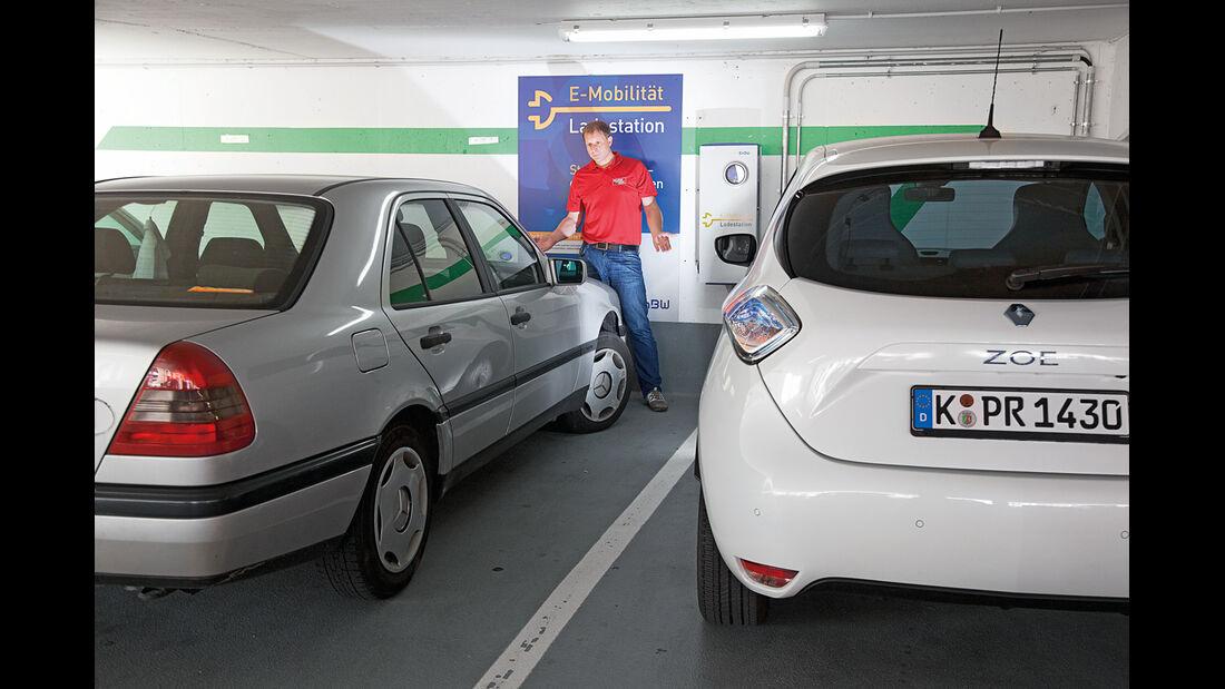 Renault Zoe, Strom, Tanken
