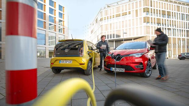 Renault Zoe, VW E-Up