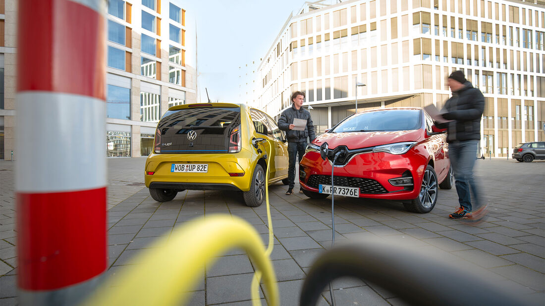 Renault Zoe und VW E-Up ams 0720