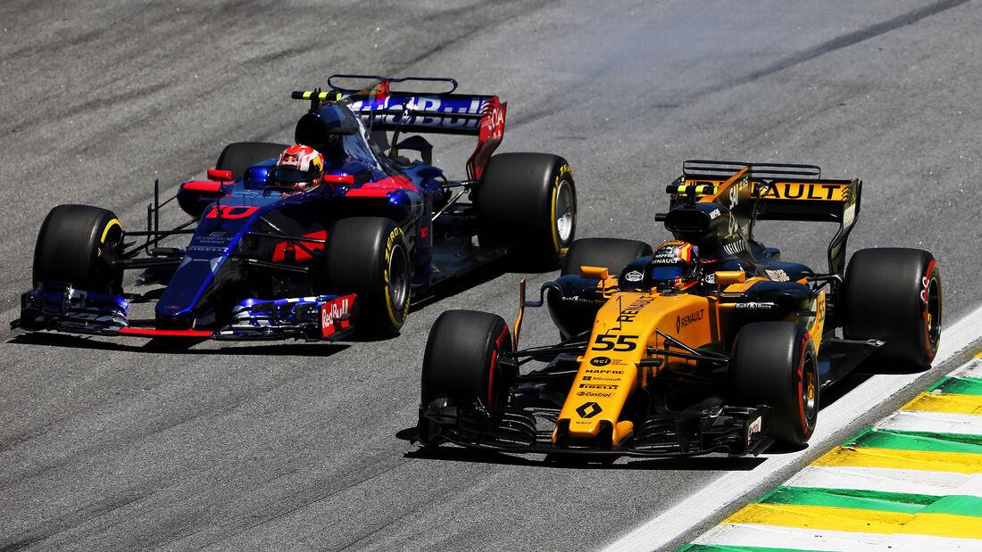 Renault vs. Toro Rosso - GP Brasilien 2017