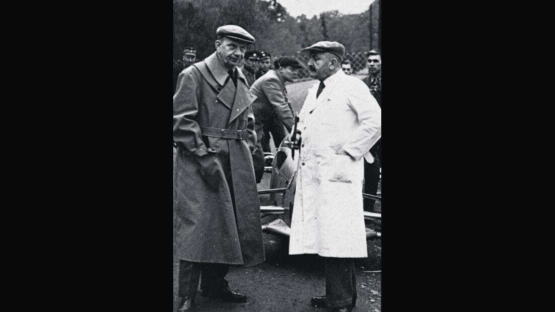 Rennreifen der 30er Jahre, Auto-Union-RennleiterWilly Walb