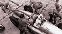 Rennreifen der 30er Jahre, Großer Preis, 1936, Tankanlage