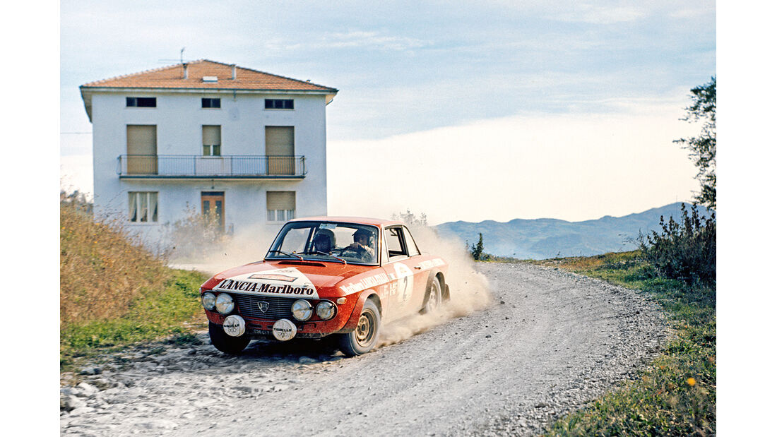 Rennszene, Lancia Fulvia 1.3,