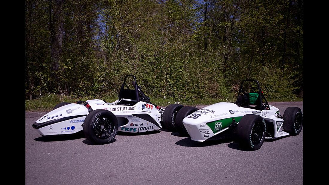 Rennwagen F-0711-5 und Greenteam-Rennwagen