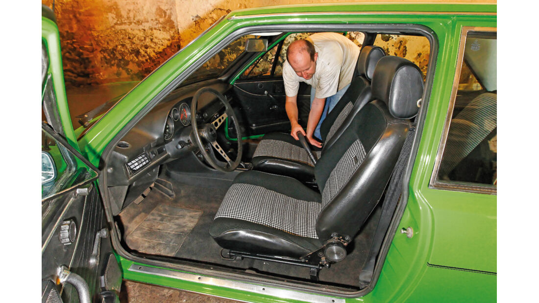 Restaurierung Audi 80 GTE, Innenraum
