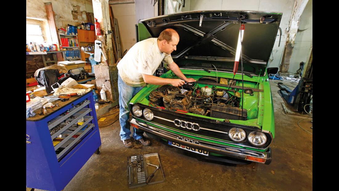 Restaurierung Audi 80 GTE, Werkstatt