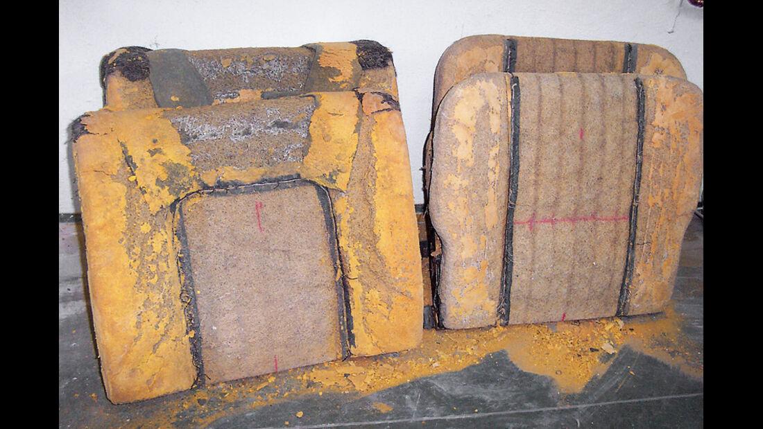 Restaurierung, BMW 3200 CS, Sitze