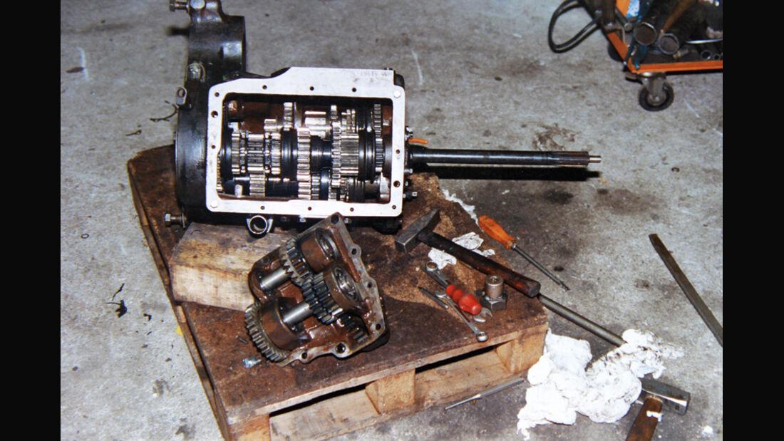 Restaurierung, Unimog 401, Getriebe