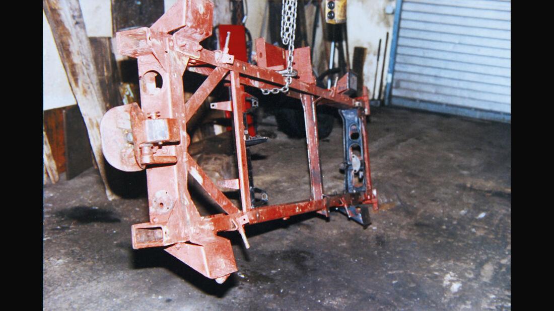Restaurierung, Unimog 401, Rahmen