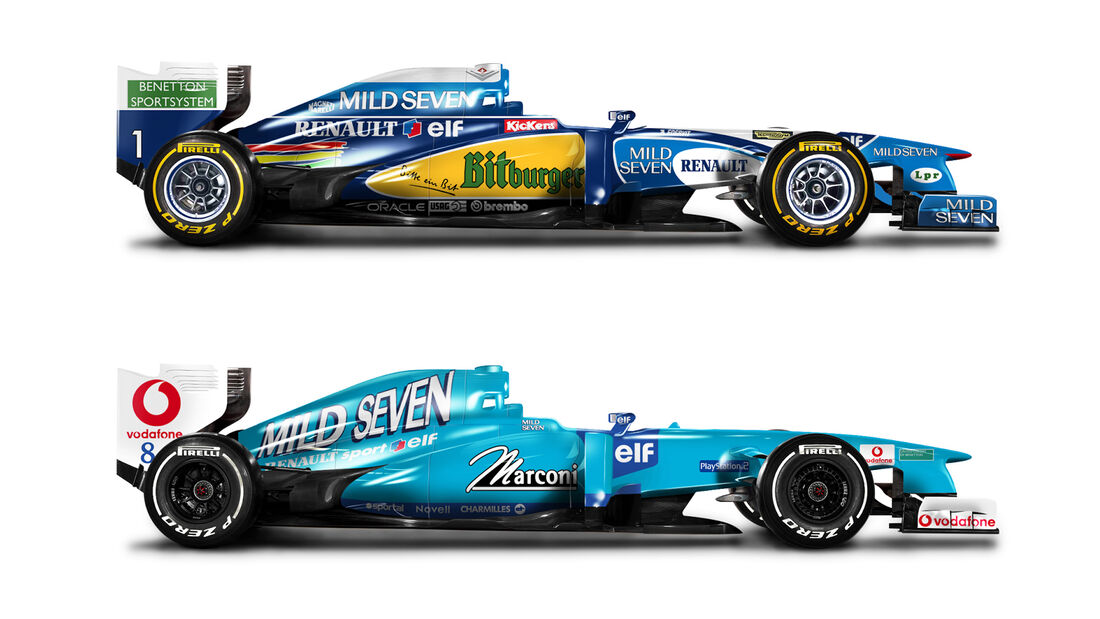 Retro F1 - Benetton B195 / Benetton B201
