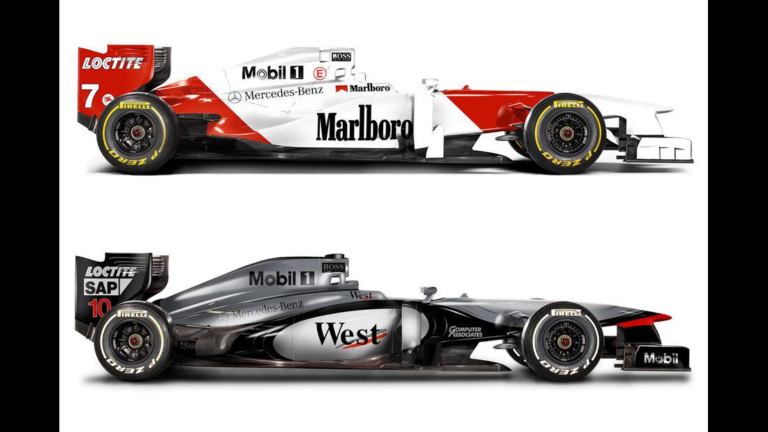 Retro F1 - McLaren MP4/11 / McLaren MP4/12