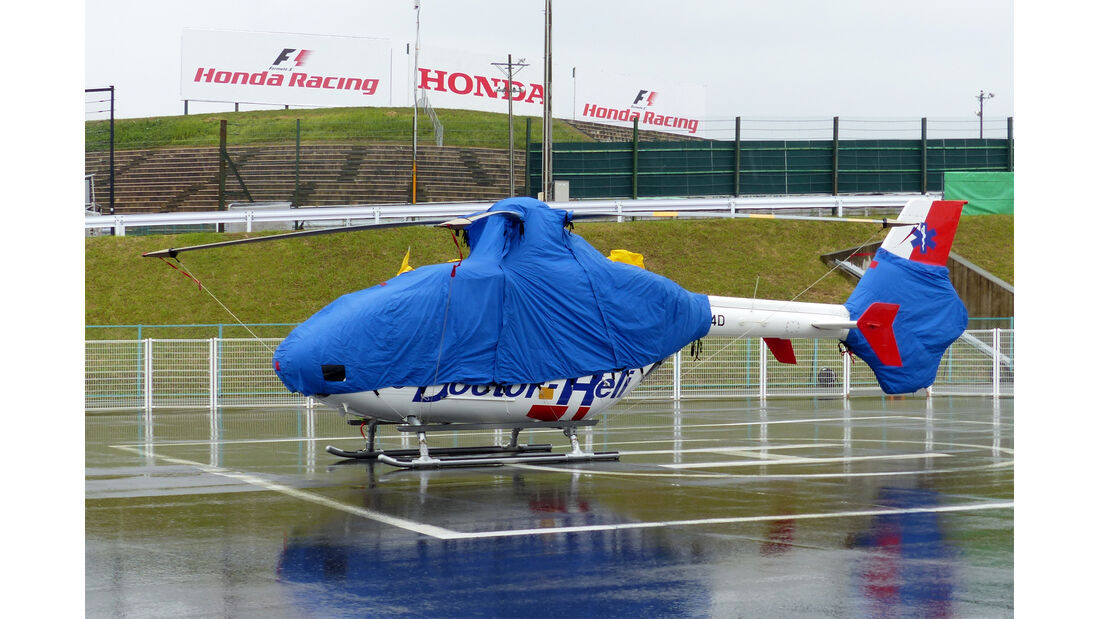 Rettungshelikopter - Formel 1 - GP Japan - Suzuka - 24. September 2015
