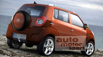 Retusche Opel Corsa Mini SUV