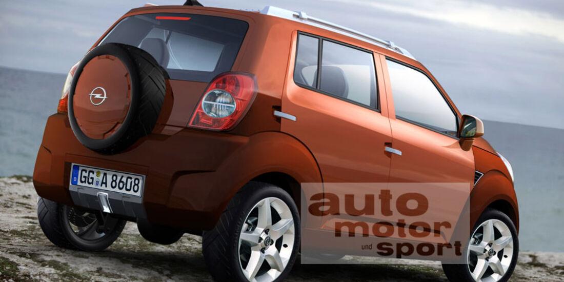 Retusche Opel Corsa Mini SUV