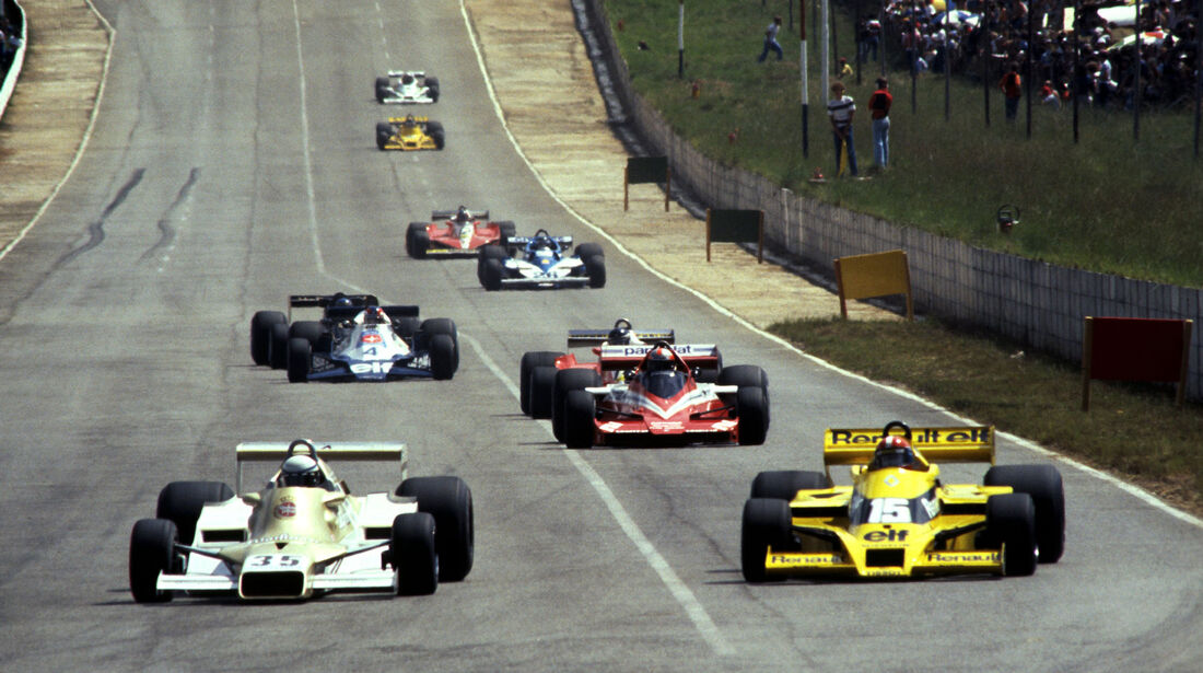 Riccardo Patrese - Arrows-Ford FA1 - Jean-Pierre Jabouille - Renault RS01 - GP Südafrika 1978 - Kyalami