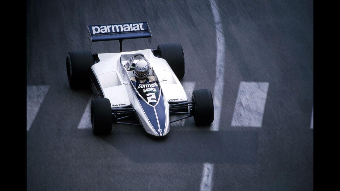 Riccardo Patrese - Brabham BT49D - Didier Pironi - Ferrari 126C2 - GP Monaco 1982