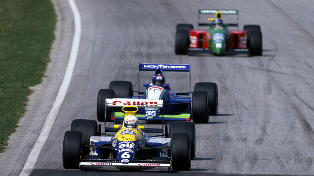 Riccardo Patrese - Williams - Gregor Foitek - Onyx-Ford ORE-1B - GP San Marino 1990 - Imola
